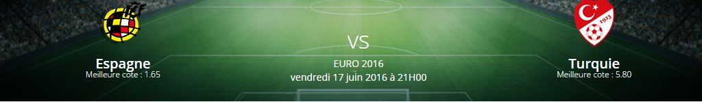 La rencontre Espagne-Turquie fait partie des rencontres du groupe D où parier lors de l'Euro 2016.